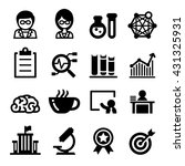 scientist icon set | Shutterstock .eps vector #431325931