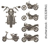 motorcycle vector icon set... | Shutterstock .eps vector #431328961