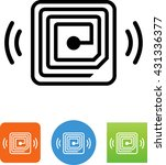 radio frequency identification  ... | Shutterstock .eps vector #431336377