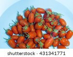 cherry tomatoes soaked in wash... | Shutterstock . vector #431341771