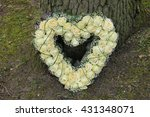 heart shaped sympathy... | Shutterstock . vector #431348071