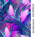tropical vector pattern with... | Shutterstock .eps vector #431350015