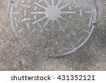 Old And Grunge Metal Manhole...