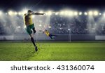 hot football moments | Shutterstock . vector #431360074