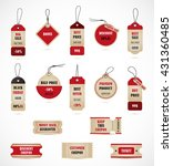 vector stickers  price tag ... | Shutterstock .eps vector #431360485