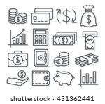 money line icons | Shutterstock .eps vector #431362441