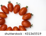 cherry tomatoes arranged in the ... | Shutterstock . vector #431365519