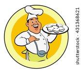 chef character illustration in... | Shutterstock .eps vector #431368621