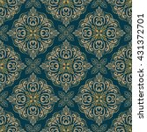 seamless floral pattern for... | Shutterstock .eps vector #431372701
