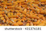 many organic maize ears on the... | Shutterstock . vector #431376181