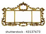 Antique Mirror With Copyspace...