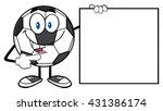 talking soccer ball cartoon... | Shutterstock .eps vector #431386174