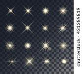 vector lighting effects. set of ... | Shutterstock .eps vector #431389819