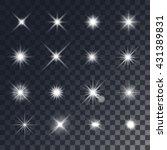 vector lighting effects. set of ... | Shutterstock .eps vector #431389831