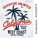 california typography for t... | Shutterstock .eps vector #431392075