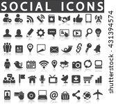 social media icons | Shutterstock .eps vector #431394574