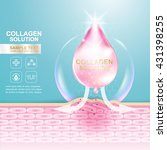 collagen solution serum drop... | Shutterstock .eps vector #431398255