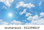 blue sky with clouds and sun...   Shutterstock . vector #431398819