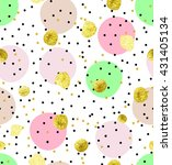cute kids polka dot colorful... | Shutterstock .eps vector #431405134