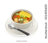 ajiaco soup bowl colombian soup ... | Shutterstock .eps vector #431405605