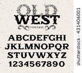 vintage alphabet in wild west... | Shutterstock .eps vector #431406001