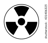 radiation icon. may present... | Shutterstock .eps vector #431406325
