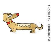 freehand drawn cartoon dog | Shutterstock .eps vector #431407741