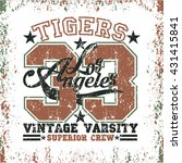 los angeles t shirt  tigers... | Shutterstock .eps vector #431415841