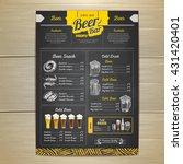 vintage chalk drawing beer menu ... | Shutterstock .eps vector #431420401