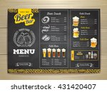 vintage chalk drawing beer menu ... | Shutterstock .eps vector #431420407