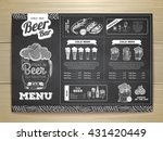 vintage chalk drawing beer menu ... | Shutterstock .eps vector #431420449
