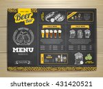 vintage chalk drawing beer menu ... | Shutterstock .eps vector #431420521