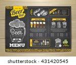 vintage chalk drawing beer menu ...   Shutterstock .eps vector #431420545