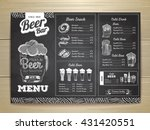 vintage chalk drawing beer menu ... | Shutterstock .eps vector #431420551