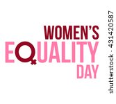 women's equality day | Shutterstock .eps vector #431420587