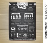 vintage chalk drawing beer menu ... | Shutterstock .eps vector #431420677