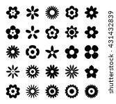 black flower icons isolated on... | Shutterstock .eps vector #431432839