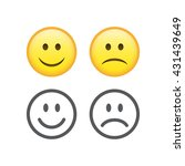 set of smile emoticons isolated ... | Shutterstock . vector #431439649