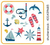 set of nautical and marine... | Shutterstock . vector #431439685
