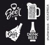 beer related typography. vector ... | Shutterstock .eps vector #431439814