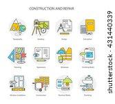 flat line conceptual stages set ... | Shutterstock .eps vector #431440339