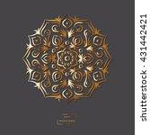 ornamental gold flower oriental ... | Shutterstock .eps vector #431442421