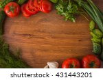 vegetables on the table top... | Shutterstock . vector #431443201