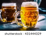 beer. two cold beers. draft... | Shutterstock . vector #431444329