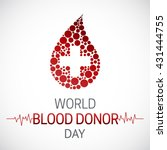 world blood donor day. blood... | Shutterstock .eps vector #431444755