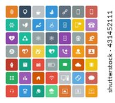 set of 49 universal icons.... | Shutterstock . vector #431452111