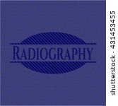radiography emblem with jean... | Shutterstock .eps vector #431453455