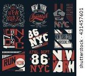 new york city typography... | Shutterstock .eps vector #431457601