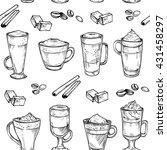 sketch seamless pattern of...   Shutterstock .eps vector #431458297