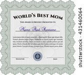 world's best mom award template.... | Shutterstock .eps vector #431460064